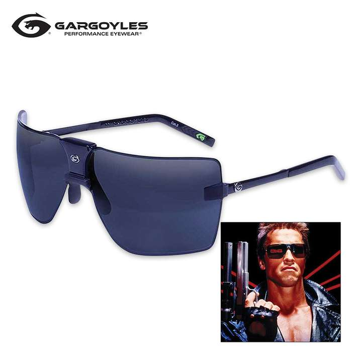 Gargoyles Classic Black Sunglasses - Black Ice And Silver Lens