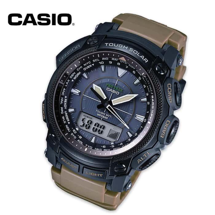 Casio Pro Trek Tactical Watch Tan