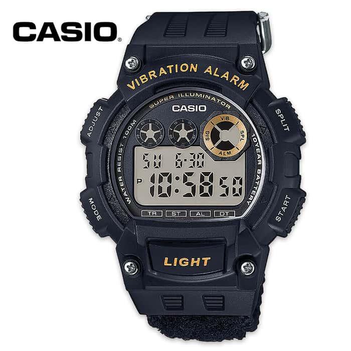Casio Super Illuminator Quartz Watch - Black
