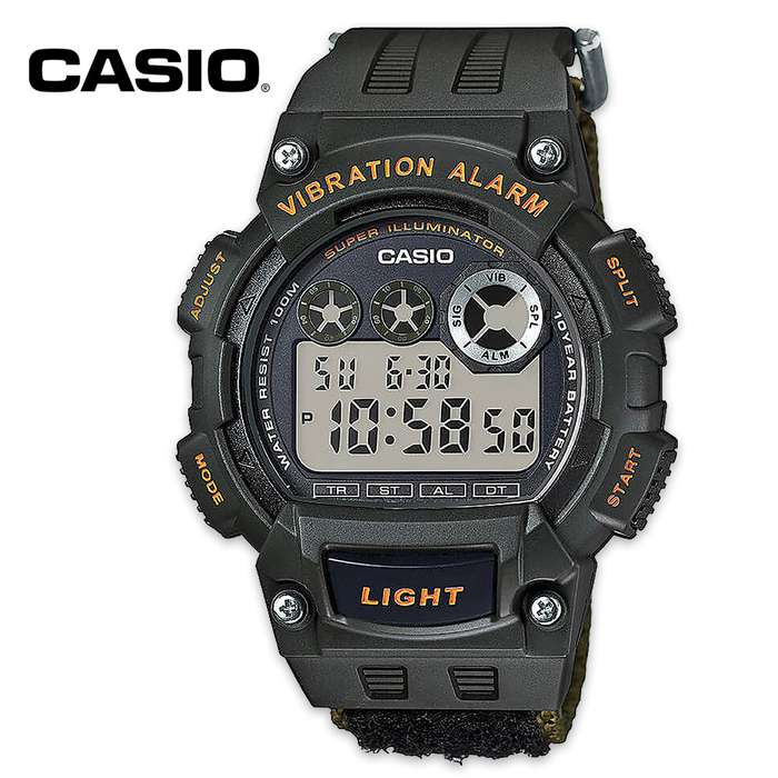 Casio Super Illuminator Quartz Watch - Green