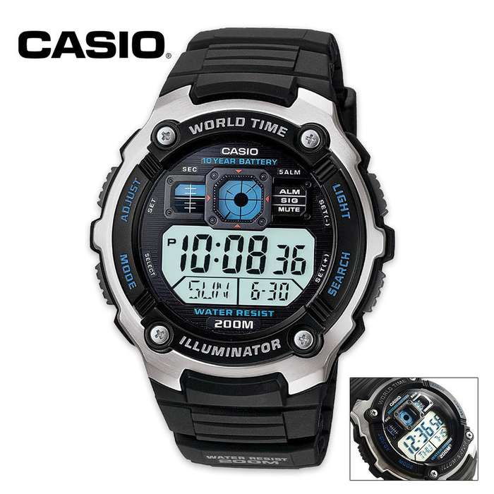 Casio Classic Digital Watch With LED
