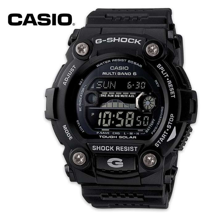 Casio G Shock Rescue Solar Tactical Watch Tide & Moon Data
