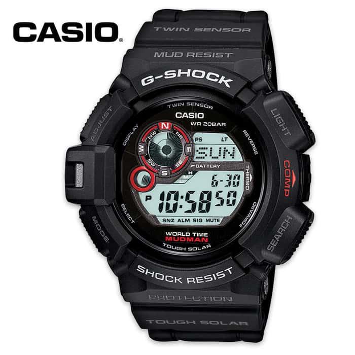 Casio G Shock Solar Atomic Mudman Tactical Watch