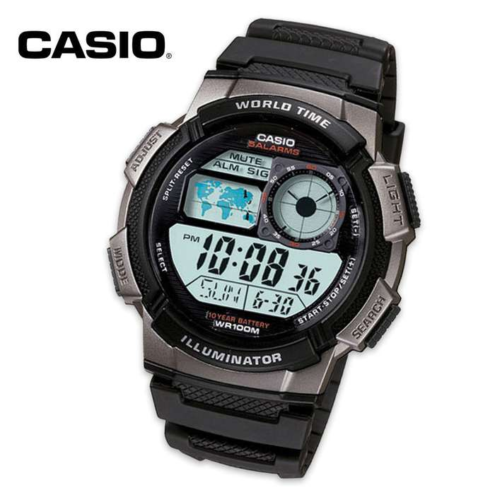 Casio Sport Smart Power Series Wristwatch With Stopwatch & Alarm