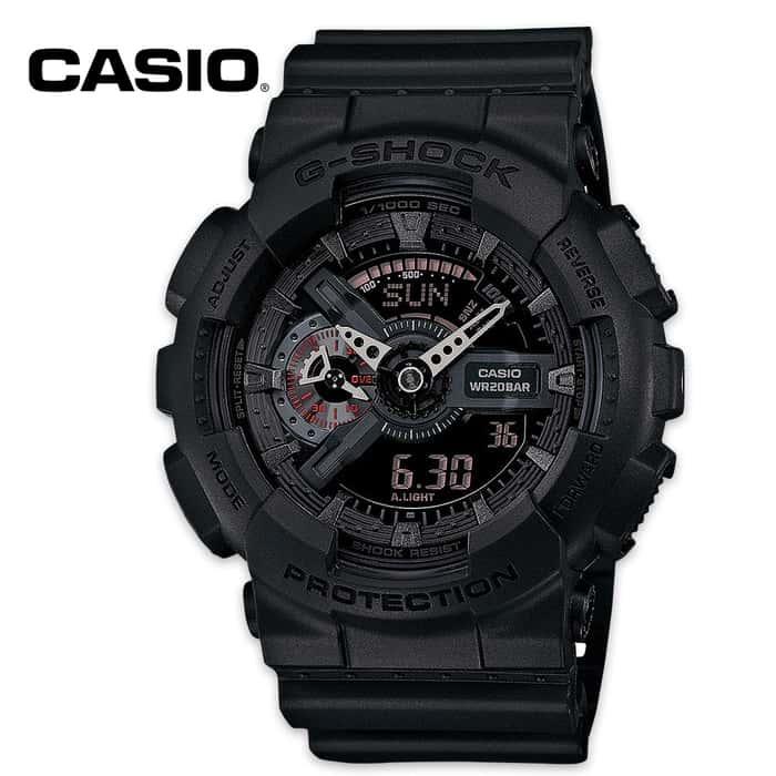 Casio G-Shock Ana-Digi Black Military Watch