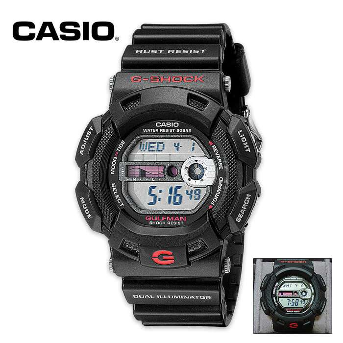 Casio Gulfman Sport Watch Black