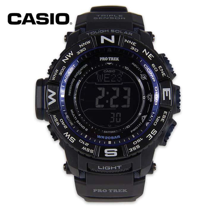 Casio Pro Trek Solar Atomic Sensor Watch