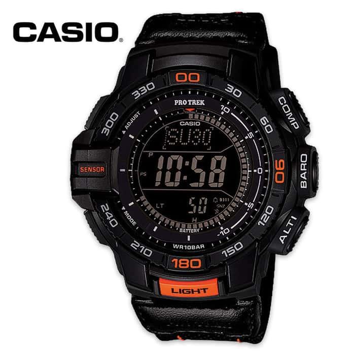 Casio Pro Trek Solar Triple Sensor Tactical Watch