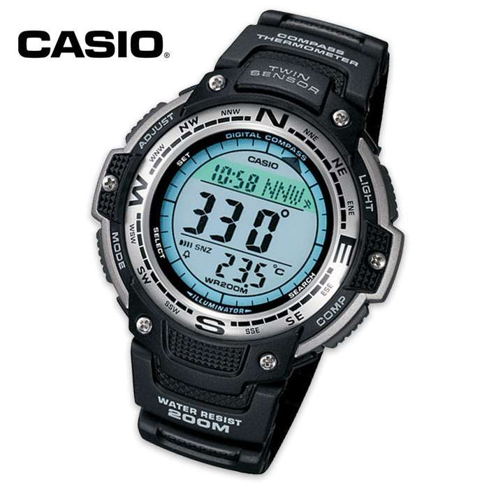 Casio Sport Twin Direction Wristwatch With Temperature Sensor
