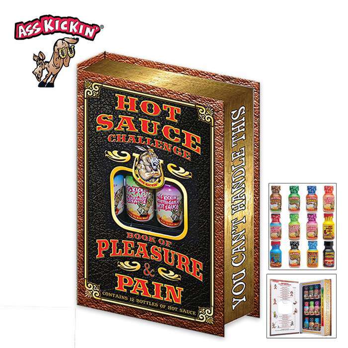 Ass Kickin Hot Sauce Challenge Book Of Pleasure And Pain - 12-Pack