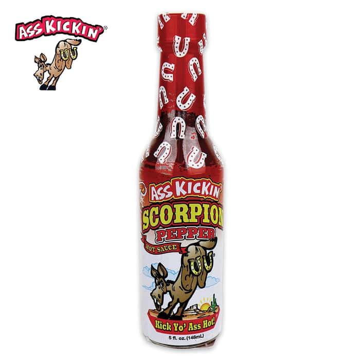 Ass Kickin Scorpion Pepper Hot Sauce - One Of World's Hottest Peppers