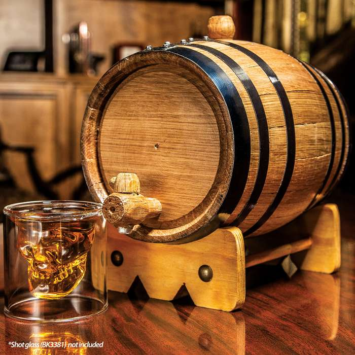 American Oak Whiskey Barrel - 2.5L - Includes spigot and stand