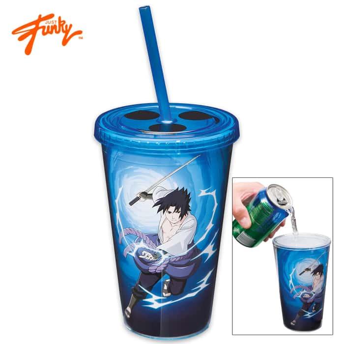 Just Funky Naruto Shippuden Sasuke Uchiha Anime Manga 18-oz. Travel Cup