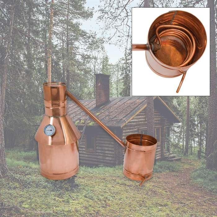 3 Gallon Copper Moonshine Still - Handmade in USA