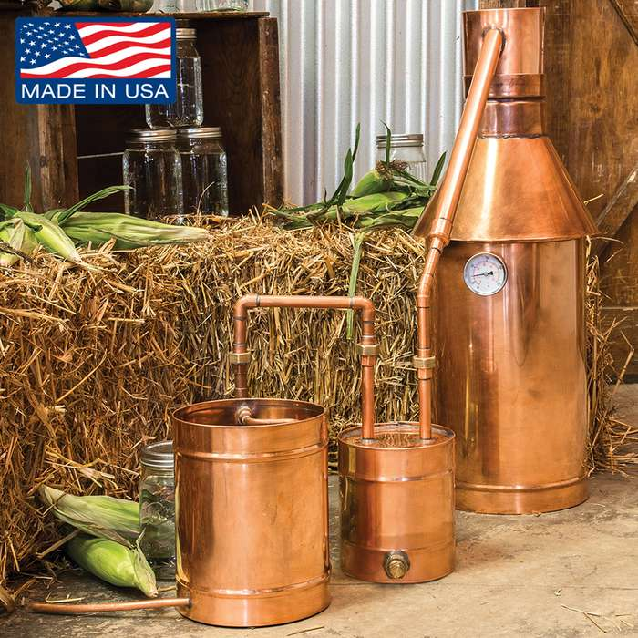 6 Gallon Copper Moonshine Still with Thumper Keg
