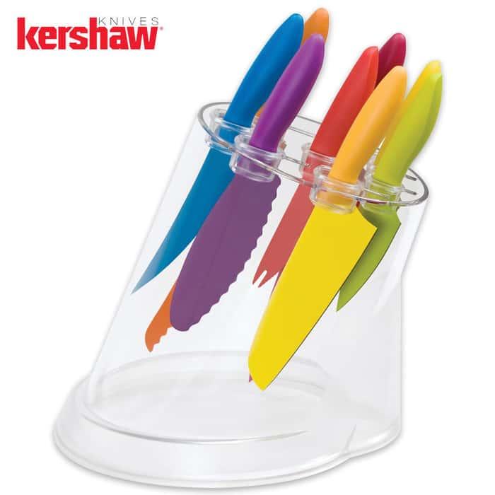 Kershaw Komachi 9 Piece Knife Set with Storage Block