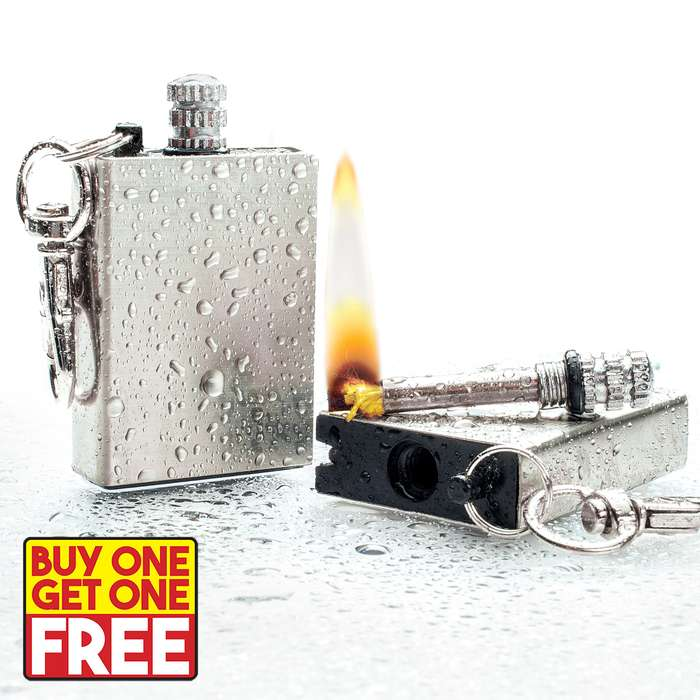 Great for survival situations, this waterproof permanent match lighter assures that you will never, ever buy matches again