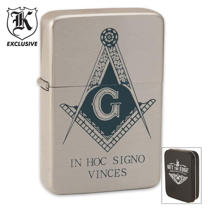 Masonic Windproof Lighter