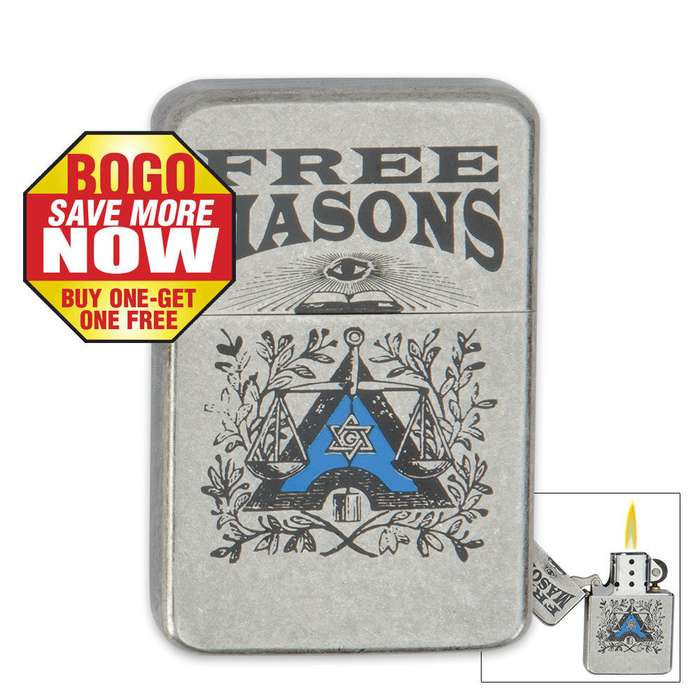 Windproof Masons Lighter 2 for 1