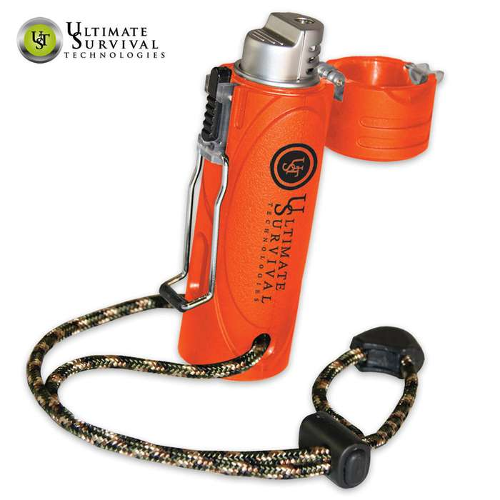 Trekker Stormproof Survival Lighter Blaze Orange