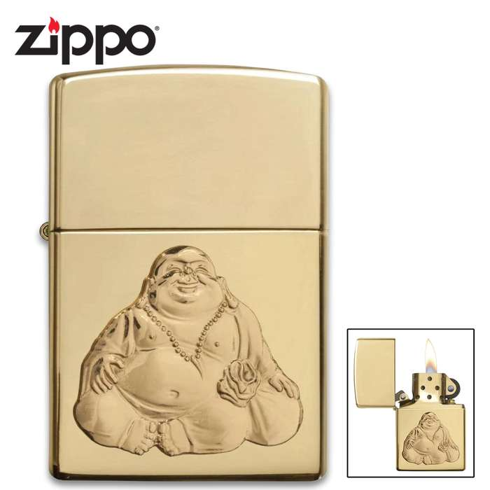 Zippo laughing Buddah lighter closed