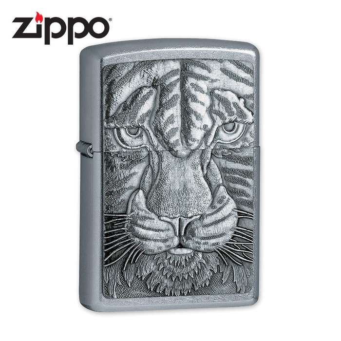 Zippo Tiger Chrome Lighter