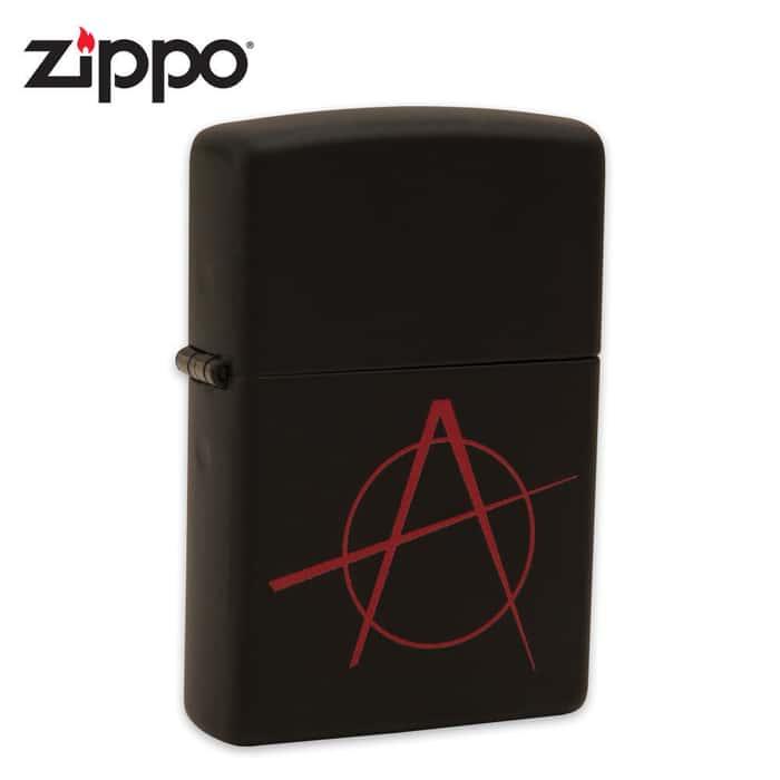 Zippo Anarchy Black Matte