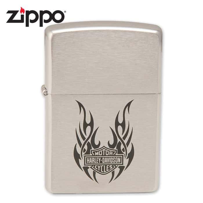 Zippo Harley Davidson Tribal Wings Lighter