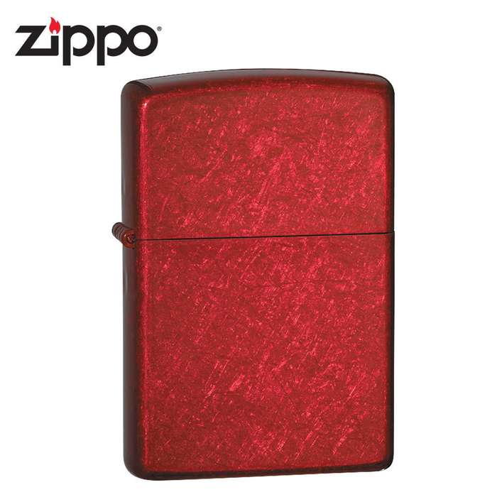 Zippo Candy Apple Red Brushed Windproof Lighter