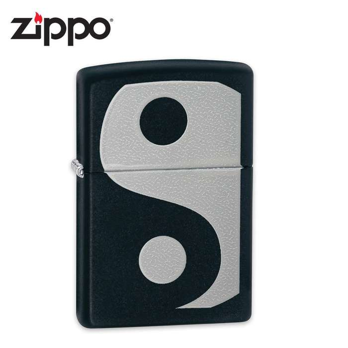 Zippo Ying and Yang Black Matte Lighter