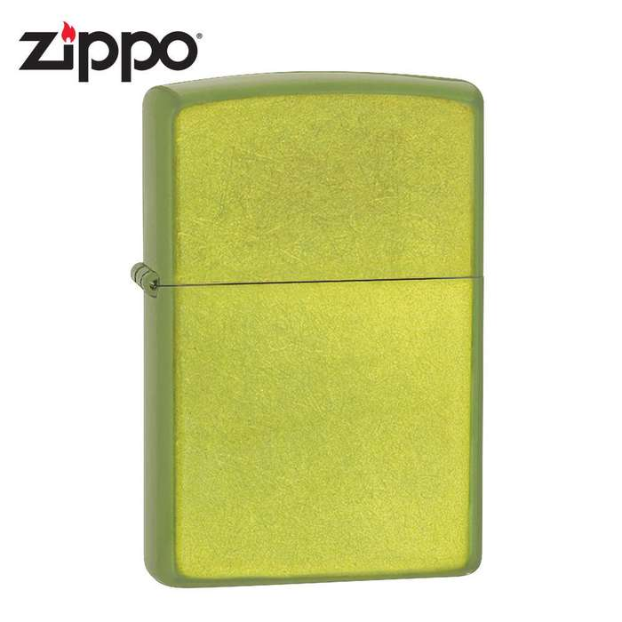 Zippo Lurid Green Brushed Windproof Lighter