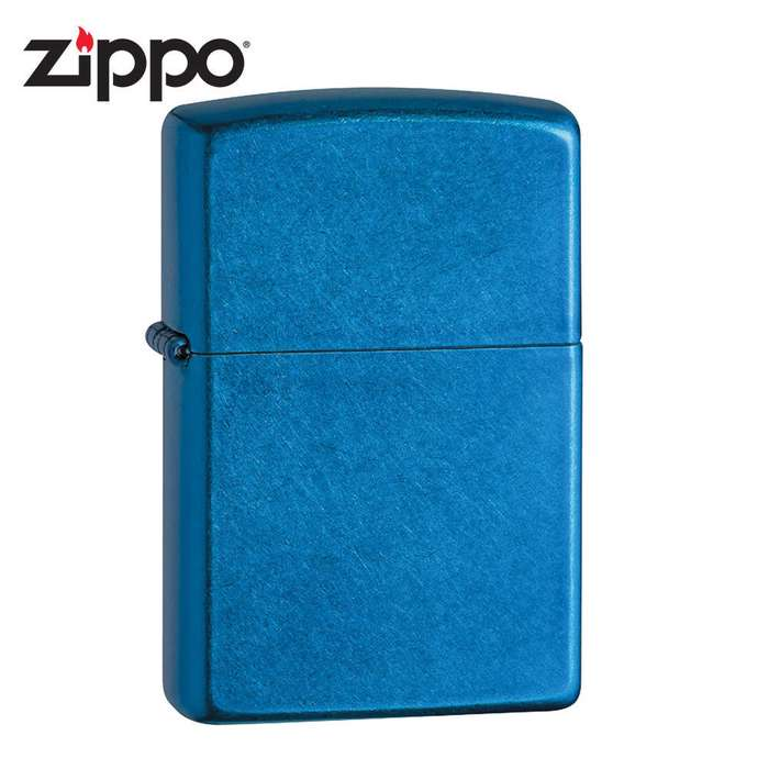 Zippo Cerulean Blue Brushed Windproof Lighter