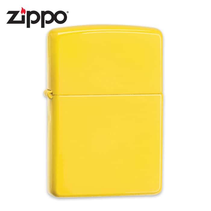Zippo Lemon Bright Yellow Matte Windproof Lighter