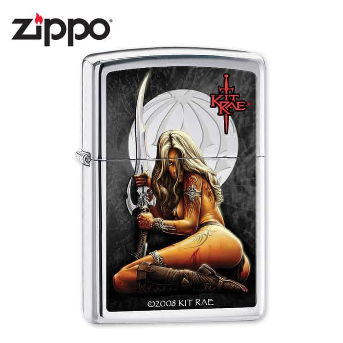 Zippo Kit Rae Enethia High Polish Chrome Lighter