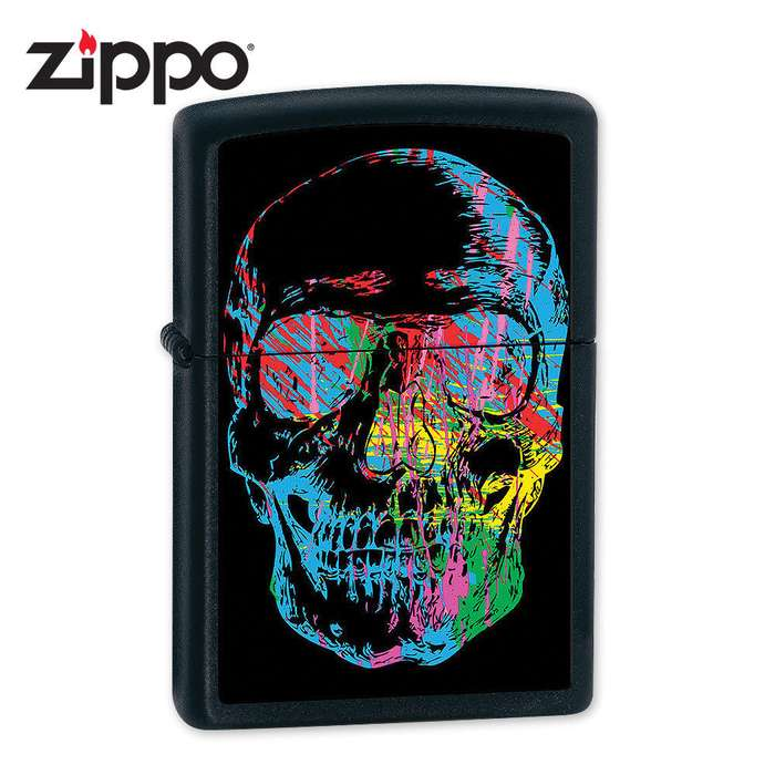 Zippo X-Ray Skull Black Matte Lighter