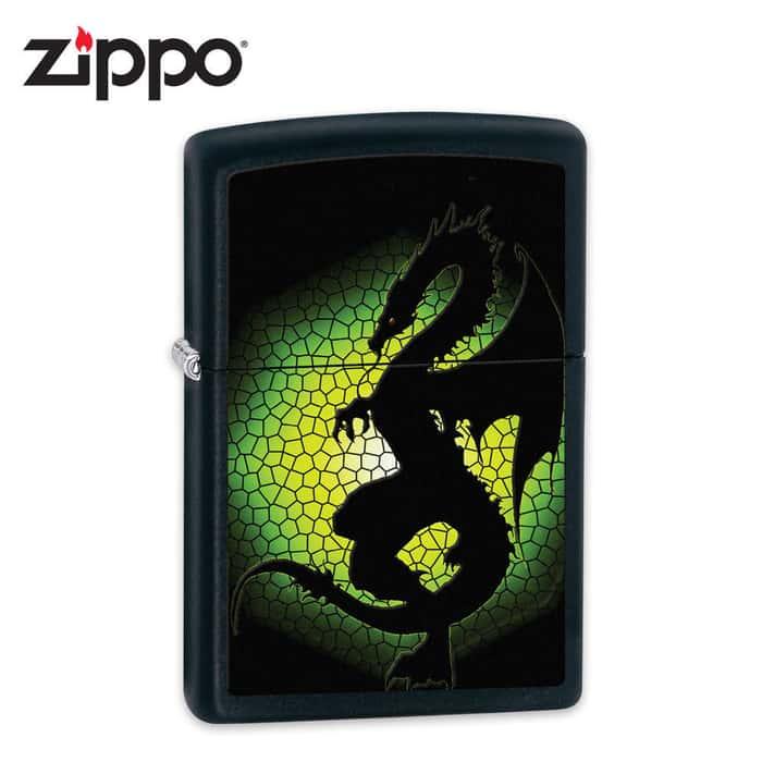 Zippo Triptych Dragon 3 Black Matte Lighter