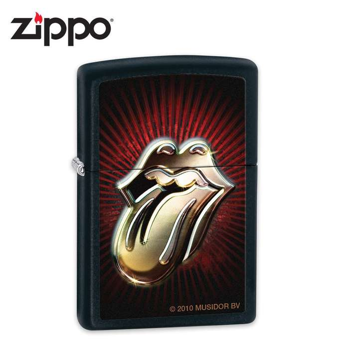 Zippo Rolling Stones Black Matte Lighter