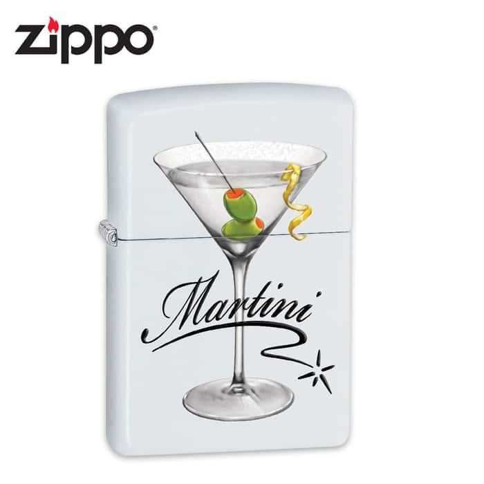 Zippo Martini White Matte Lighter