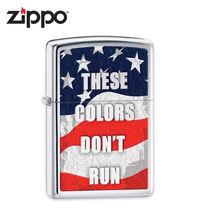 Zippo These Colors Dont Run High Polish Chrome