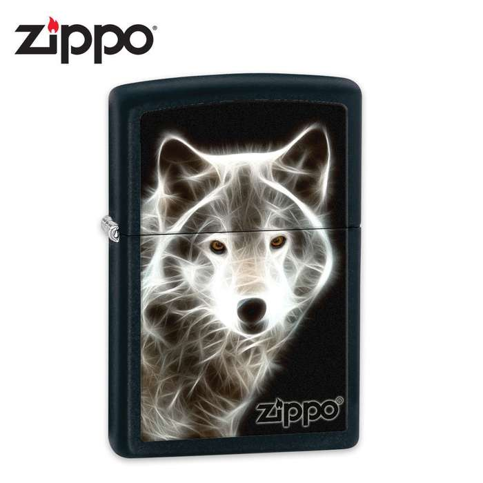 Zippo Electric Wolf Black Matte Lighter