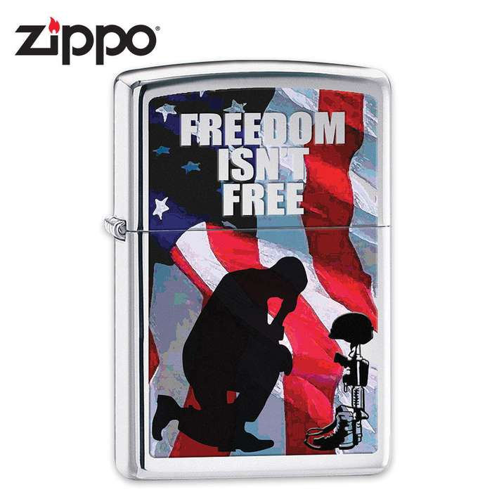 Zippo Freedom Is Not Free Lighter