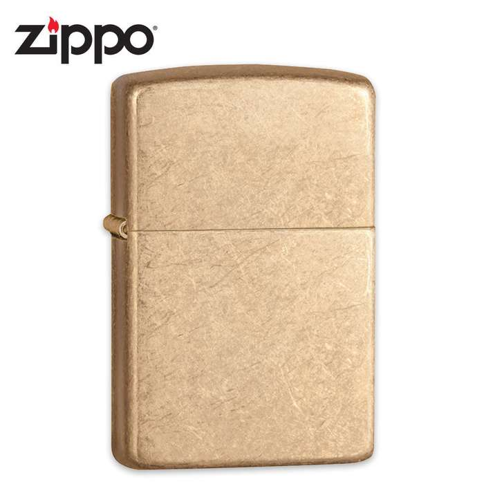 Zippo Armor Tumbled Brass Windproof Lighter