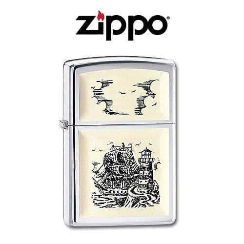 Zippo Ship Emblem Lighter