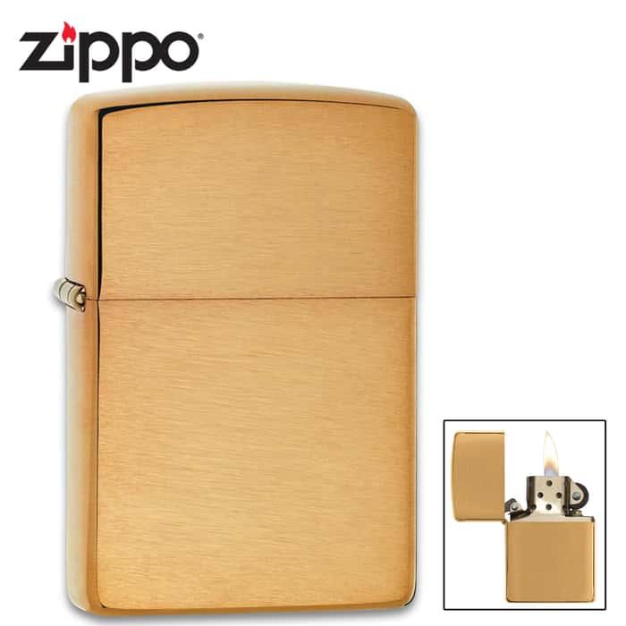Zippo classic brushed brass lighter