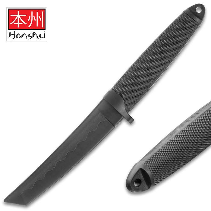 Honshu Dagger Training Weapon - One-Piece Polypropylene Construction, Textured Handle, Lanyard Hole - Length 12""