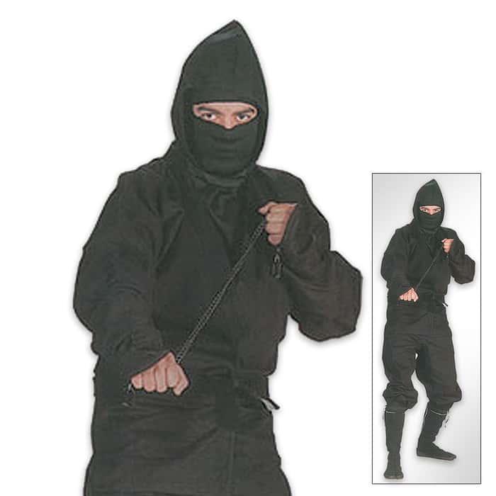Black Ninja Complete Uniform Large