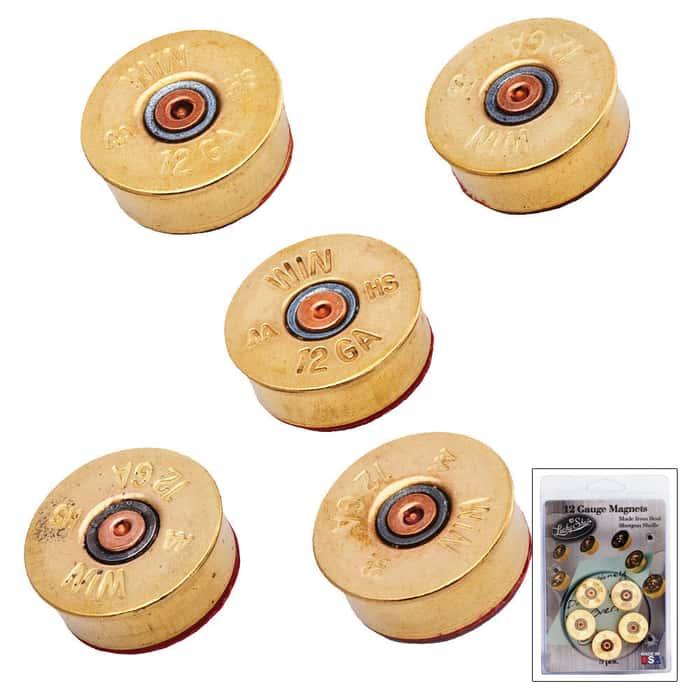 12 Gauge Magnets Brass