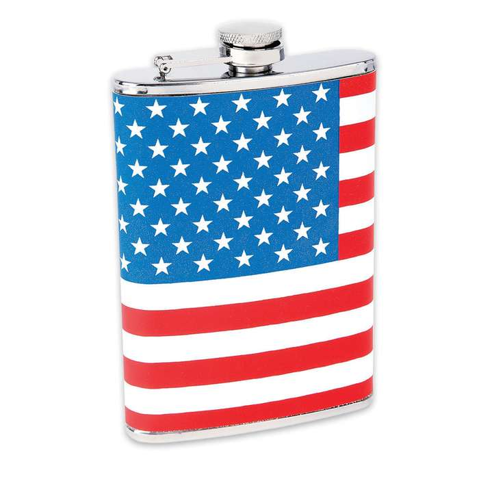 American Flag Stainless Steel Flask