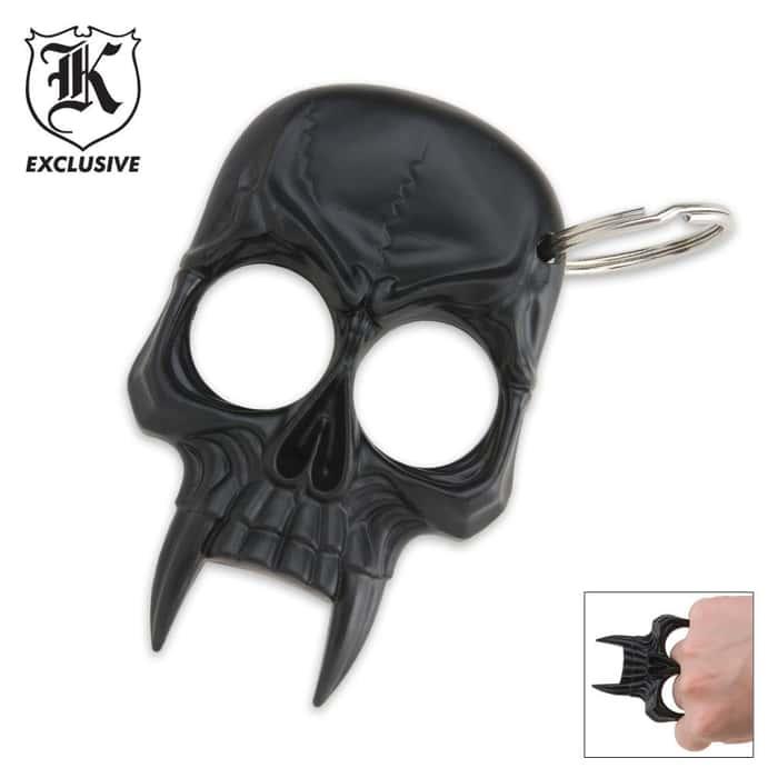 Black Skull Fang Keychain