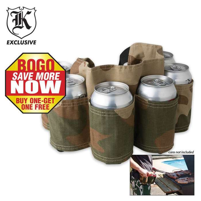 6 Pack Camo Beer Can Holster 2 For 1